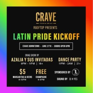 Latino pride party event at crave 300x300